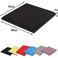 Wyujie Propagación de la Llama de la Espuma acústica de Espuma acústica autoadhesiva Adhesiva 50 PCS Reduce el Ruido Will 50X50cm Antracita,Negro,Self Adhesive