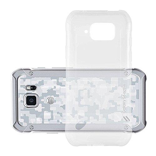Cadorabo Silikon Hülle für Samsung Galaxy S6 Active in Voll Transparent