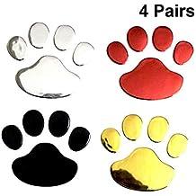 YeahiBaby Pegatinas Adhesivas para Coche Diseño de Huellas de Perros para Decoración de Vehículo 4 Pares