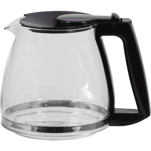 Melitta M810 - Caraffa di ricambio per macchine da caffè americano OPTIMA M 810 e OPTIMA TIMER, in vetro, colore: Trasparente/Nero