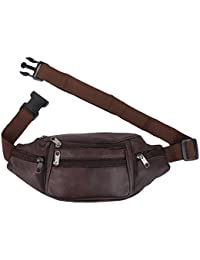 K London Stylish Real Leather Brown Waist Bag Elegant Style Travel Pouch  Passport Holder with Adjustable 1529a1ee4f5f6