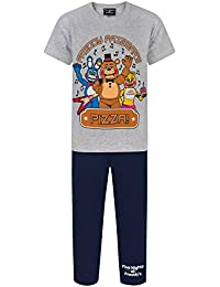 Five Nights At Freddys - Conjunto de Pijama de pantalón Largo y Camiseta de Manga Corta