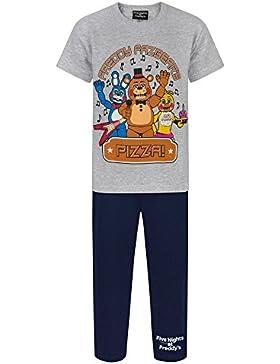 Five Nights At Freddys - Conjunto de pijama de pantalón largo y camiseta de manga corta para niños