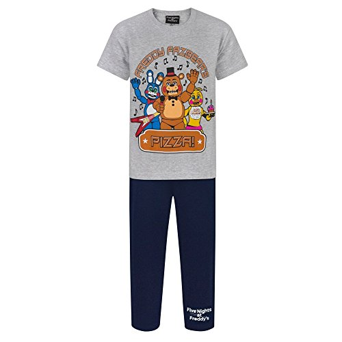 Five Nights At Freddys Childrens Boys Official Character Pyjama Set (Years (11-12)) (Grey/Navy)