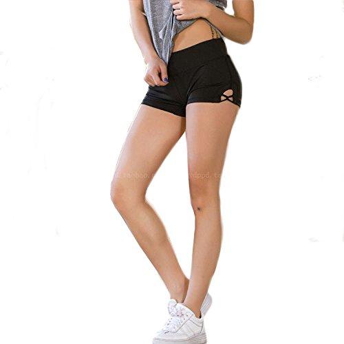 Saint-Acior Kurz Hose Yoga Tanzen Shorts Hot Pants Fitness Stretch Mini Hose Damen Sportshort (Hot-yoga-pants)