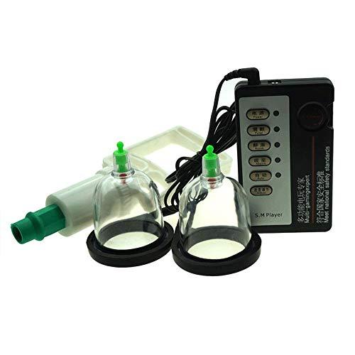 Electro Shock/E-stim Vakuum Brustpumpe, Elektrostimulation Kits Massagegerät für Frauen, Männer, Paare,SM Sexspielzeug für die Vergrößerung von kleinen Brüsten