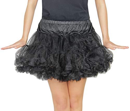 Foxxeo 35098 | Deluxe Petticoat Tutu schwarz