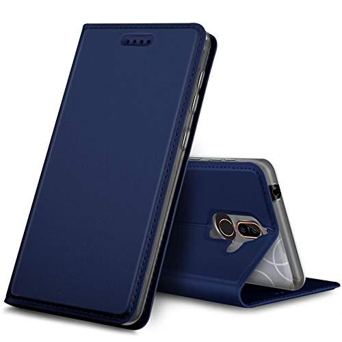 Verco Handyhülle kompatibel mit Nokia 8.1, Premium Handy Flip Cover für Nokia 8.1 Hülle [integr. Magnet] Case Tasche, Blau