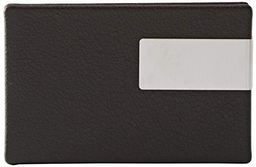 Wedo 2056601 Visitenkartenbox Good Deal für Karten 95 x 60 mm, schwarz/silber