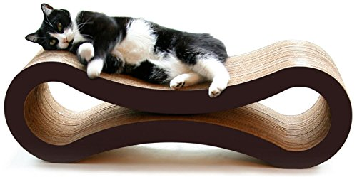 PetFusion Ultimate Cat Scratcher Lounge (86 x 27 x 27 cm, Walnut Brown). Superior Cardboard & Construction, significantly outlasts cheaper alternatives.