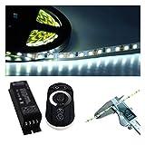 120 LED/m 5mm schmal LED Stripe 5500K tageslichtweiß mit Dimmer 5-20m (5m)