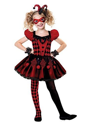 Clown Kinder Süße Kostüm - Amscan Süßer Harlekin - Narr Halloween Kostüm Kinder Mädchen