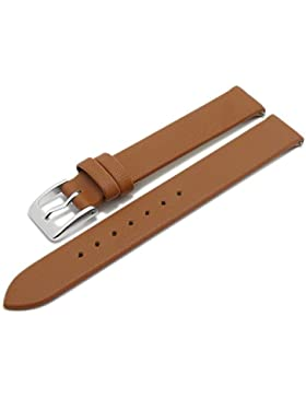 Meyhofer EASY-CLICK Uhrenarmband Donau 12mm hellbraun Leder glatt ohne Naht Made in Germany My2gfml4002