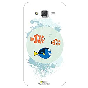 Hamee Disney Pixar Finding Dory Official Licensed Cover Hard Back Case for Samsung Galaxy J7 - 2016 Edition( Dory Marlin and Nemo/White )