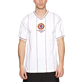 Score Draw Official Retro Aston Villa Mens 1982 European Cup Final shirt - Large, White