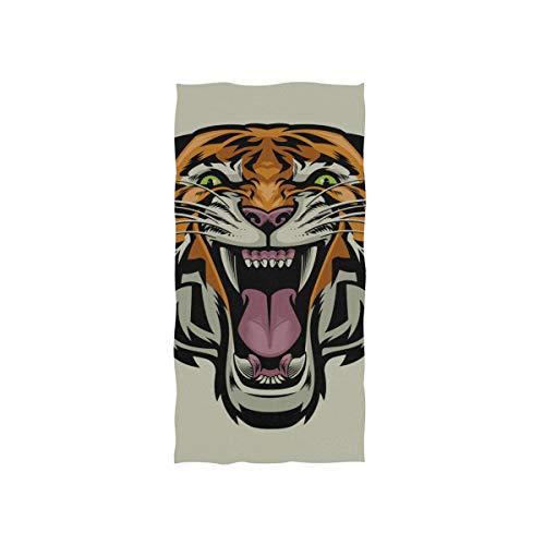 Wütend Gereizt Tiger King Animal Soft Spa Strand Badetuch Fingerspitze Handtuch Waschlappen Für Baby Erwachsene Badezimmer Strand Dusche Wrap Hotel Reise Gym Sport 30x15 Zoll -