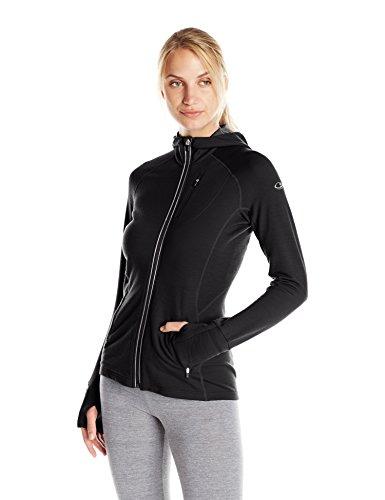 Icebreaker Damen Kapuzenjacke Quantum, black, XL, 101466001 (Icebreaker Pullover Womens)