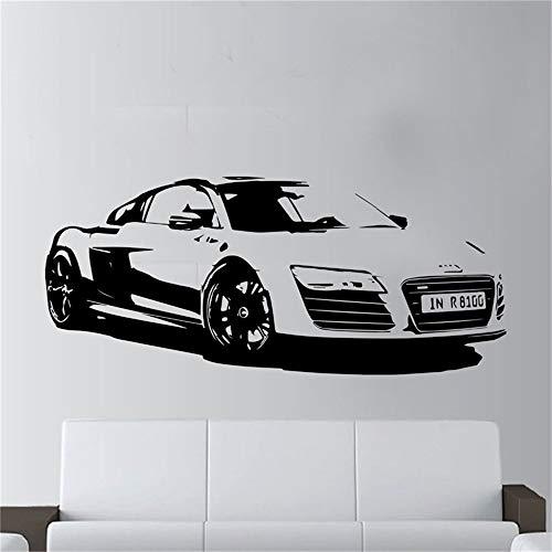 adesivo muro adesivo murale camera da letto Moda auto grande Audi R8 Coupe Sports Home Decor auto da corsa