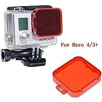 HERO 5filtro, homree rojo GoPro Filtro de corrección de fijación para cámara lente filtro para Buceo Fotografía, for Hero 4/3+