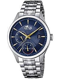 07fd322fbaa9 Lotus Watches Reloj Multiesfera para Hombre de Cuarzo con Correa en Acero  Inoxidable 18213 9