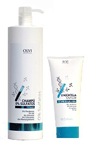 Pack Champu 0% Sulfatos 1000ml + Mascarilla 0% Sulfatos
