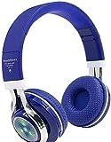 KEMANDUO Bluetooth Kopfhörer, drahtloser Kopfhörer Bluetooth Headset FM Musik/Tägliche Freizeit/Sport Verwenden Sie Folding Bluetooth Card Headset Beleuchtung Bluetooth Headset,E