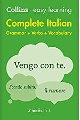 Easy Learning Italian Complete Grammar, Verbs and Vocabulary (3 books in 1) (Collins Easy Learning Italian) Paperback