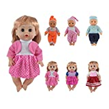 CZC GIFT Cadeau 6 UNITÉS Robes et Habits pour poupées de 12 Pouces, 13 Pouces et 14 Pouces avec Couture à 360 °