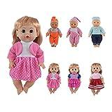 Regalo CZC Set di 6 Vestiti per Bambole da 12, 13, 14 Pollici, cuciti a 360°