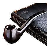BCXBCX Pipe - Pipe en Ébène - Pipe À Tabac À Filtre Courbé Manuel - Tabagisme Portable en Bois Massif - Cadeau d'anniversaire Cadeau - Porte-Cigarette,Tuyau,14.5cm