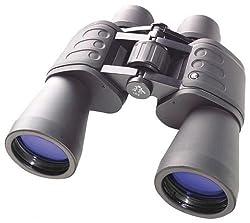 Bresser Fernglas Hunter 10x50 mm mit Prismen aus vollvergütetem BK-7 Glasmaterial, faltbaren Augenmuscheln für Brillenträger, Gummiarmierung und Nylontransporttasche, schwarz
