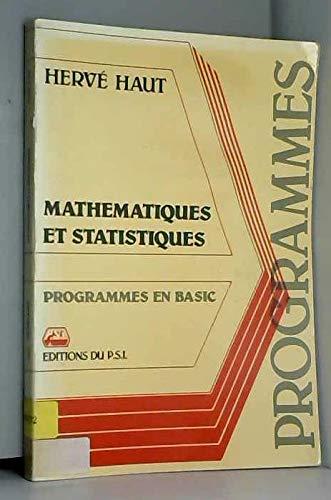 mathematiques et statistiques Programmes en basic