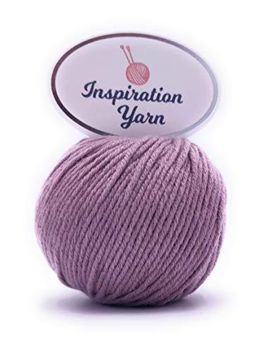 Inspiration Garn, 100% Kaschmirgarn, Nadelstärke 4 mm, 25 g (DK) DK Blush Purple - 100% Mongolische Cashmere