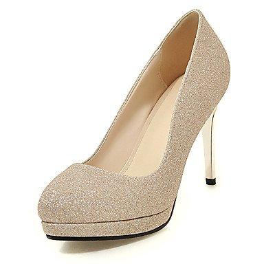LYNXL Talloni delle donne Primavera Estate Autunno Inverno Club scarpe personalizzate Materiali da festa di nozze e abito da sera Zeppa tacco a spillo Gold