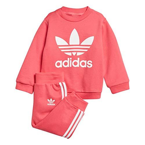 adidas Kinder Trefoil Trainingsanzug, Reapnk/White, 74