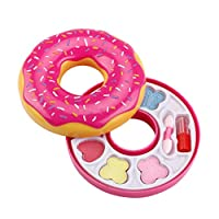 chenguId Child girl princess makeup toy box shape donut beauty bag makeup set pretend play