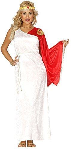 Damen römischen Göttin Samt Toga Antike Griechische Grecian Historical Fancy Kleid Kostüm Outfit 14-18 - Weiß, (Griechische Kleid Toga)