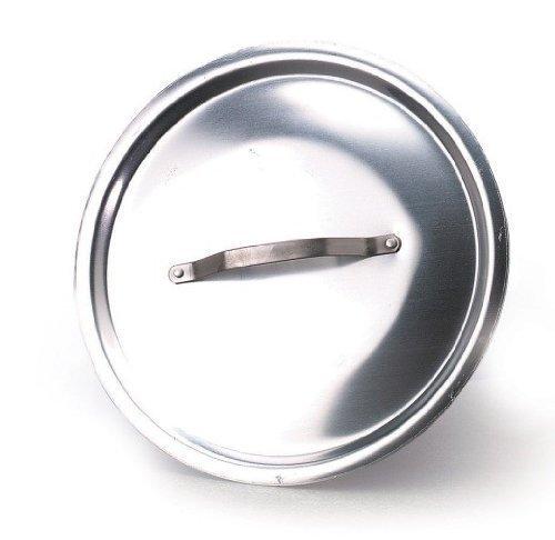 Pentole agnelli alma12924 coperchio rotondo pesante con ponticello, alluminio, 24 cm