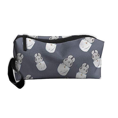 Dhrenvn Hamster Cartoon Unisex Oxford Cloth Travel Hanging Organizer Kit Bag Cosmetic Bag for Travel Camping