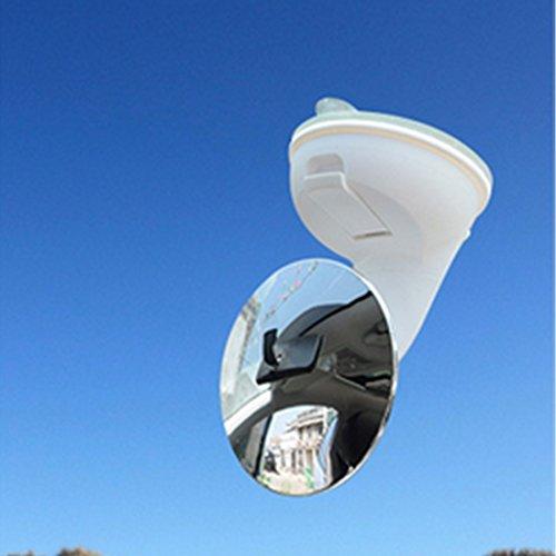Bestja Mini Auto Babys Rücksitzspiegel Rückspiegel Babyspiegel Baby Spiegel mit Saugnapf für Autositz, 360 Grad Einstellbar SUV Babyschalenspiegel Sicherheitsspiegel Babyspiegel für Babyschalen Kindersitz (85MM, Weiß)
