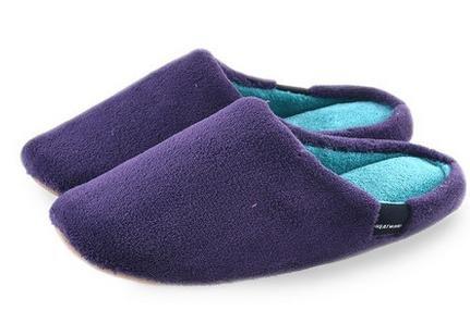 Maison pantoufles de coton velours corail intérieur maison, les chaussures, les hommes et les femmes automne et hiver couple mignon female purple