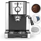 Beem 03260 Perfect | Machine porte-filtre à espresso avec insert de capsule pour capsule Nespresso-20 bar | Café en poudre, t