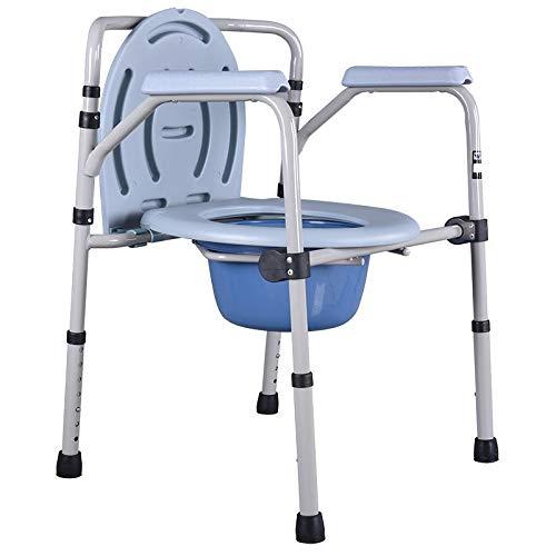 Walking Stick Toilettenstuhl Klappbar Kommode Und Wc Surround Leicht, Höhenverstellbar, Einfach, Badezimmer Für ältere Senioren, Behinderte, Großeltern Fauay
