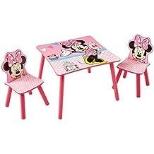 Minnie Mouse 527MMU - Conjunto de mesa y dos sillas