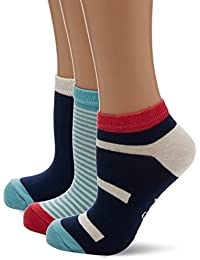 Original Penguin Women's Lshpe676 Socks, Blue (Aqua), One Size (Manufacturer Size: 4 to 8) pack of 3