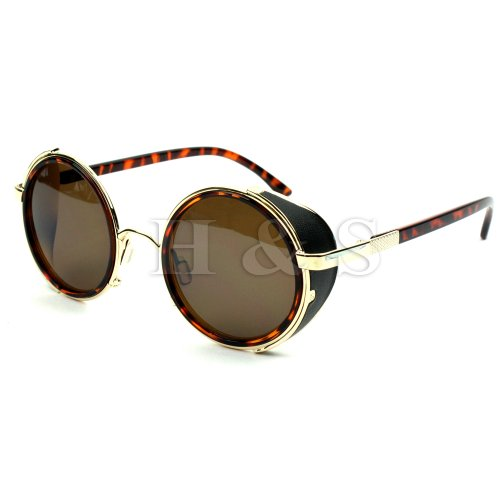 hsr-steampunk-sunglasses-50s-round-glasses-cyber-goggles-vintage-retro-style-blinder-brown