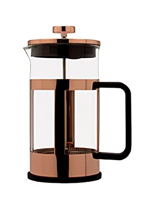 Cafe Ole Copper Cafetiere Coffee Maker- 8 cups/1.0 Litre by Grunwerg