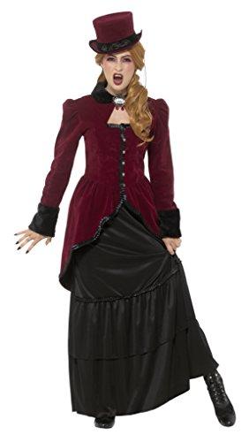 e Viktorianische Vampirin Kostüm, Jacke, Rock und Brosche, Größe: 36-38, 45116 (Adult Viktorianischen Vampir Kostüme)