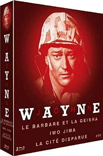 Coffret john wayne 3 films : le barbare et la geisha ; iwo jima ; la cité disparue [Blu-ray] [FR Import]