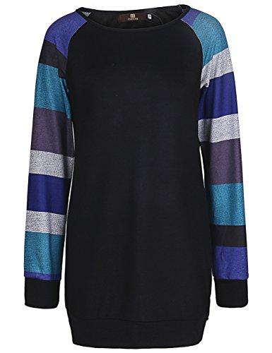 ISASSY Damen Langarm T Shirt Bluse Oberteile Tops Pullover Abbildung 2